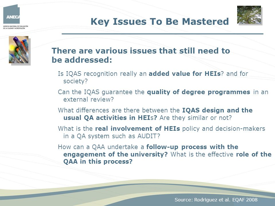 Key Issues To Be Mastered