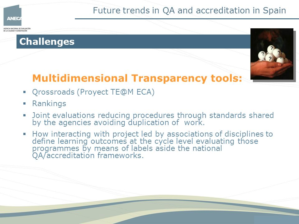 Multidimensional Transparency tools: