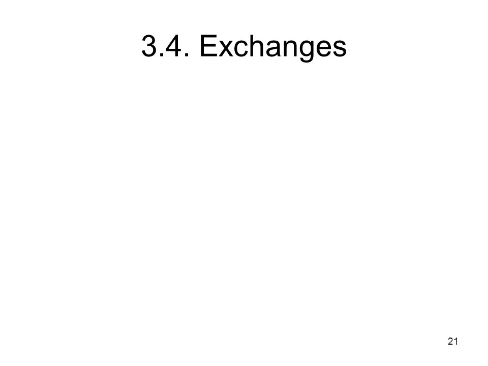 3.4. Exchanges