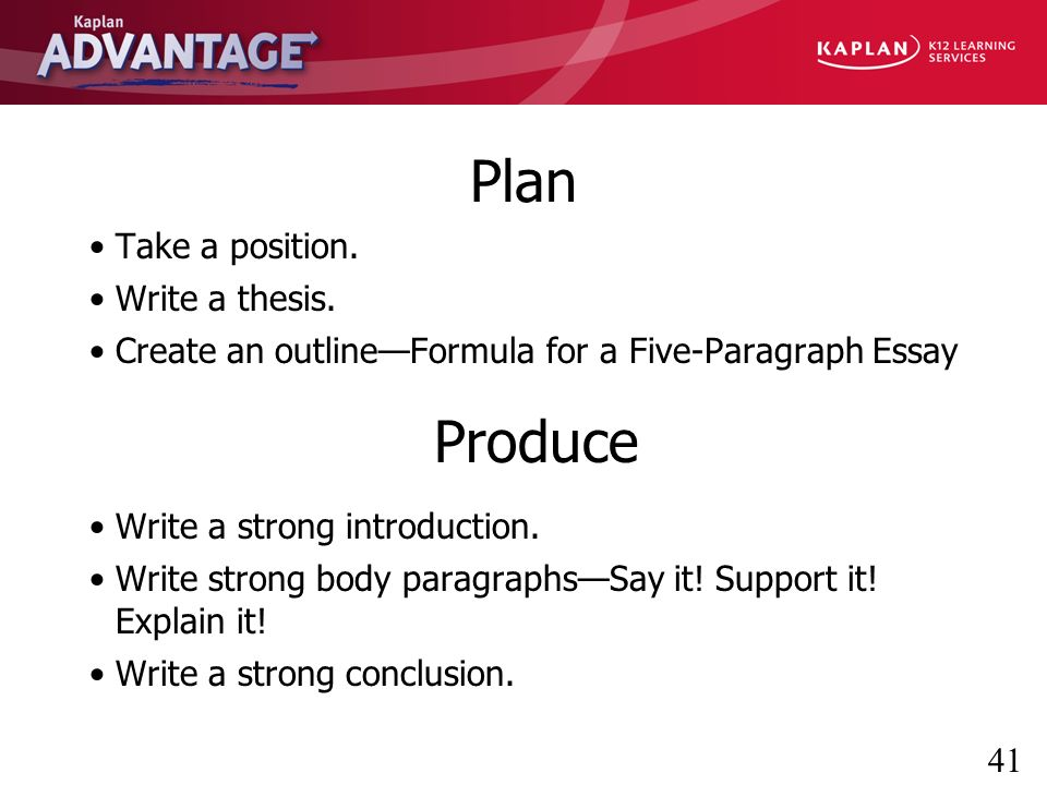 what is the main advantage of sentence outlines Exam preparation: strategies for essay exams  memorize your outlines or  body paragraph each containing one main idea, with a topic sentence linking back.