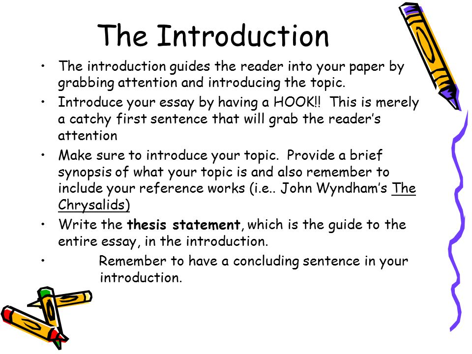essay for guide to presenting