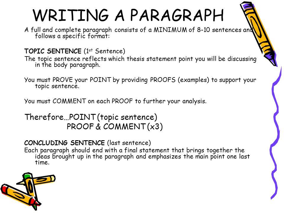 1st paragraph argumentative essay