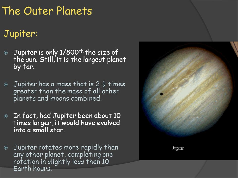 Earth Science: 23.3 The Outer Planets - ppt video online ...