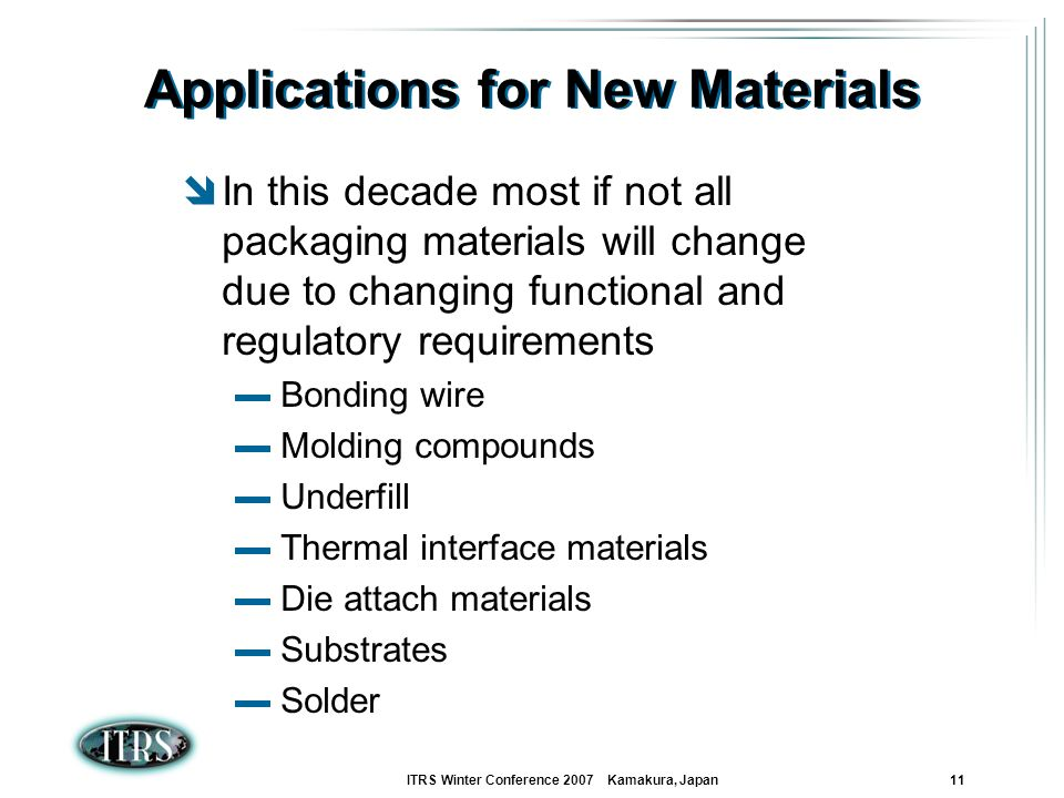Applications for New Materials