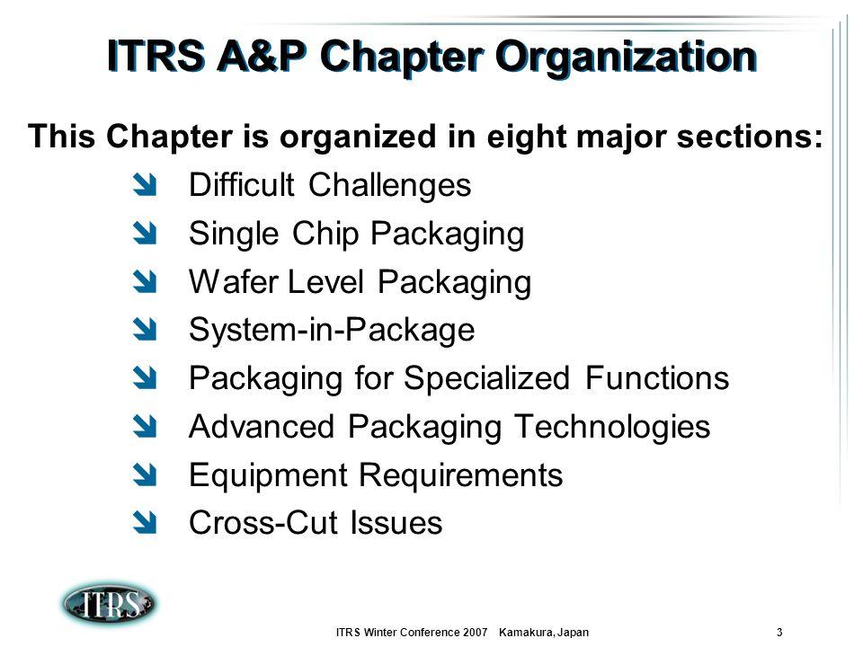 ITRS A&P Chapter Organization
