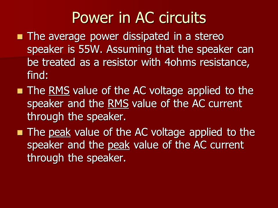 how to find average value of ac current