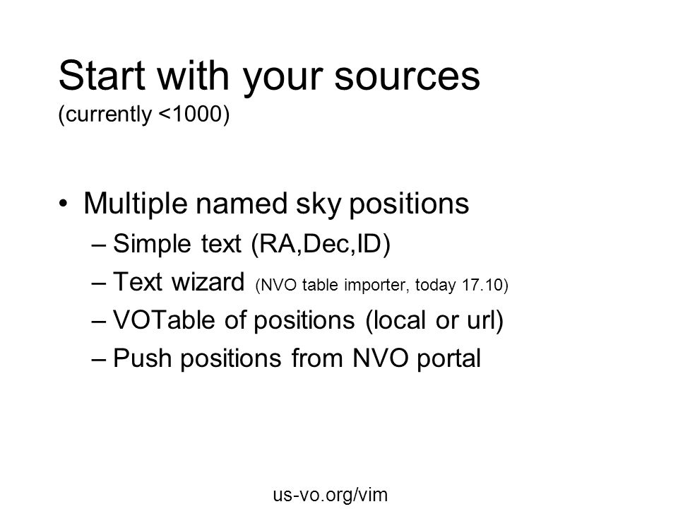 Start with your sources (currently <1000)
