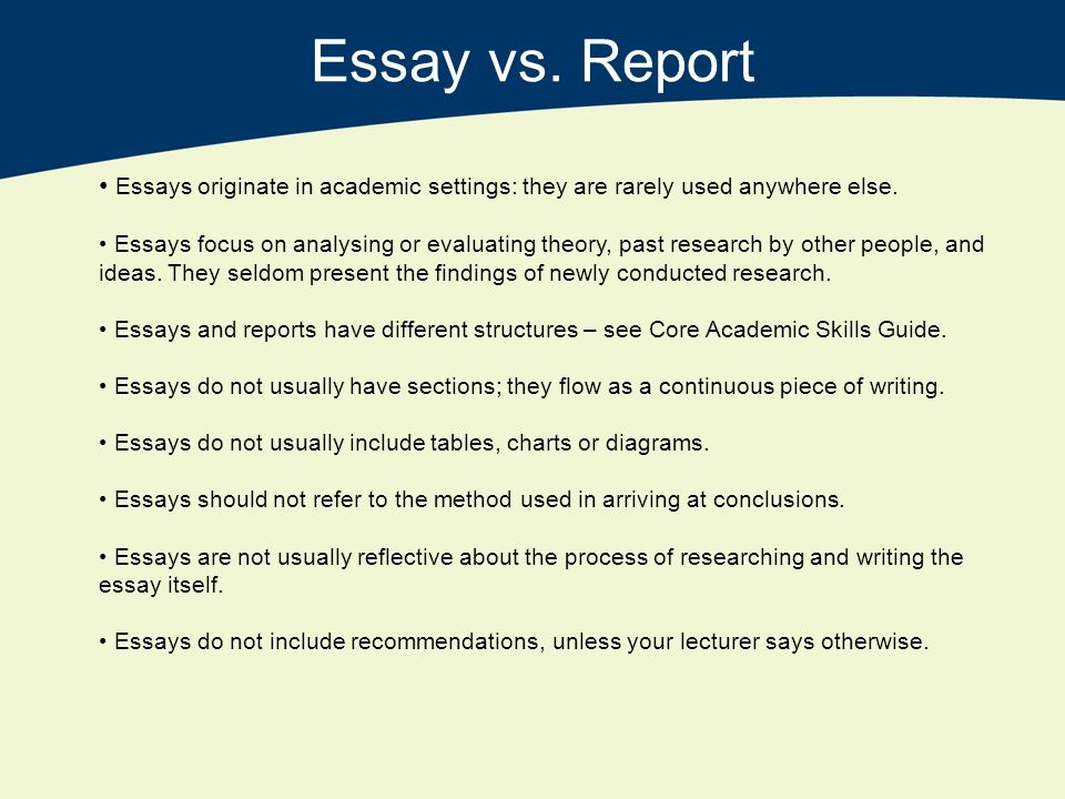 Essay vs report writing » Online Writing Service