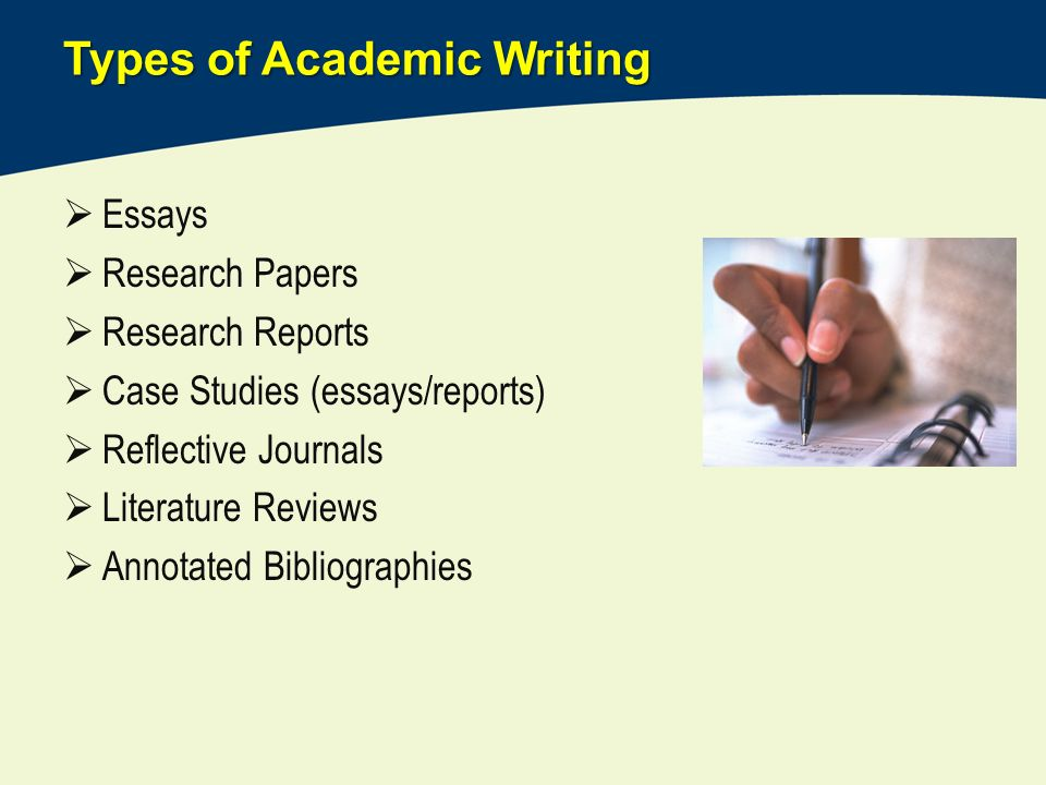 Write academic research essay