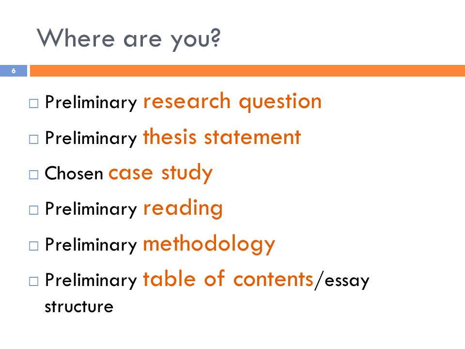 I know what a thesis is... but what is a preliminary thesis?