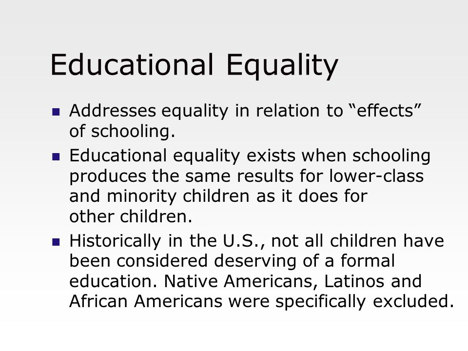 conflict in education equality or Make curriculum, teaching and language conflict- sensitive  spirit of  understanding, peace, tolerance, equality of sexes, and.