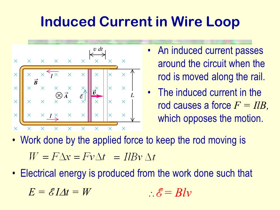 Induced Current in Wire Loop