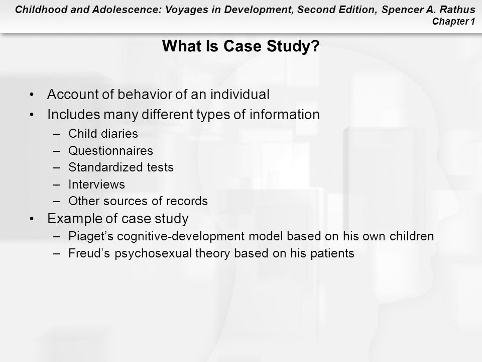case study cognitive development Piaget's stages of cognitive development: experiments with kids  as a teacher , i've had to study piaget's theory several times so i'd read all.