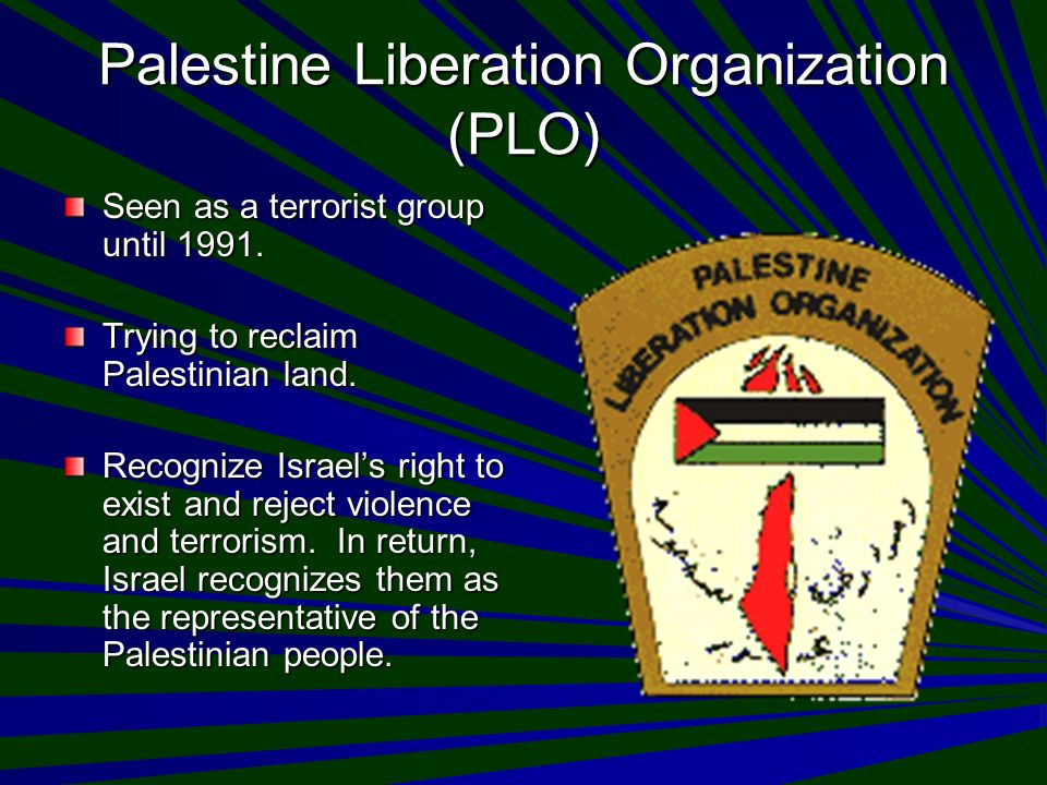 an analysis of the palestinian liberation organization The palestine liberation organization is considered the legitimate representative of the palestinian people and hold a permanent observation seat in the un general.