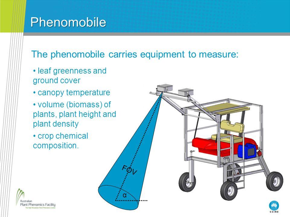 Phenomobile The phenomobile carries equipment to measure: