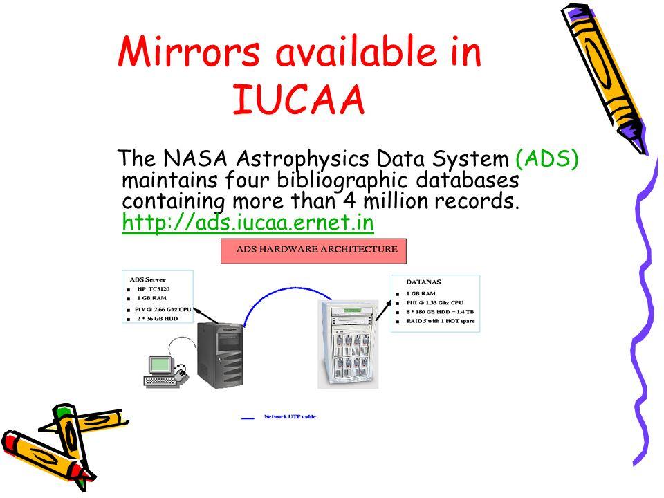 Mirrors available in IUCAA