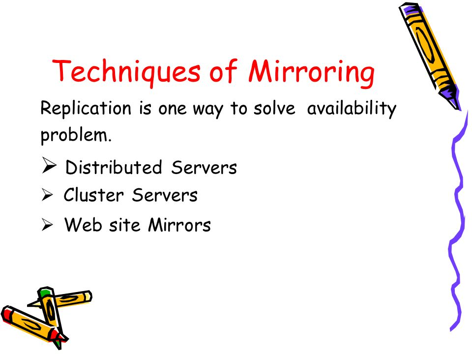 Techniques of Mirroring