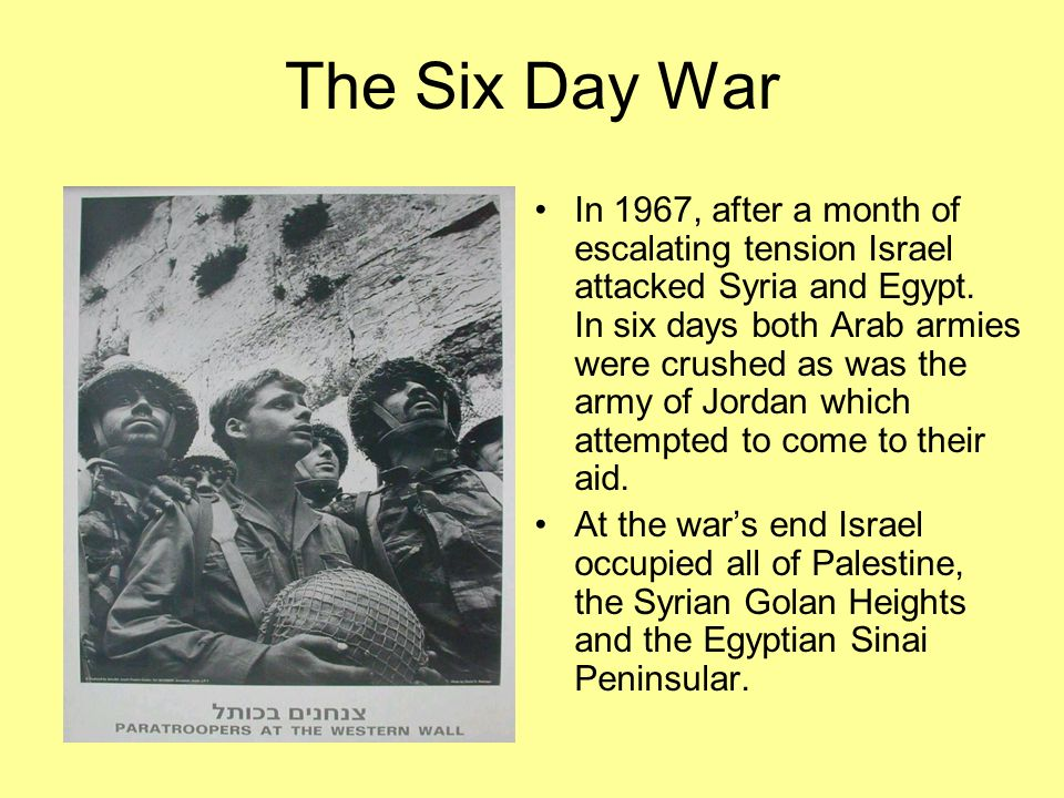 the six day war coursework essay