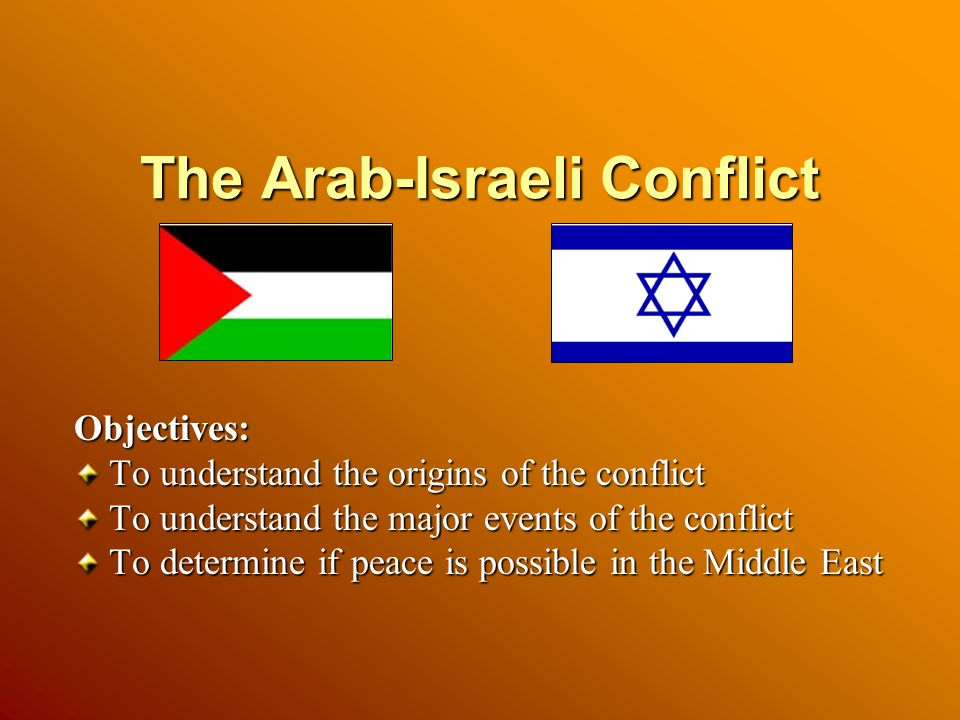 an overview of the arab israeli conflict in the middle east I n t r o d u c t i o n omplexity and  but the arab-israeli conflict, and its  palestinian core in  in the middle east in the early years of the twenty-first  century.