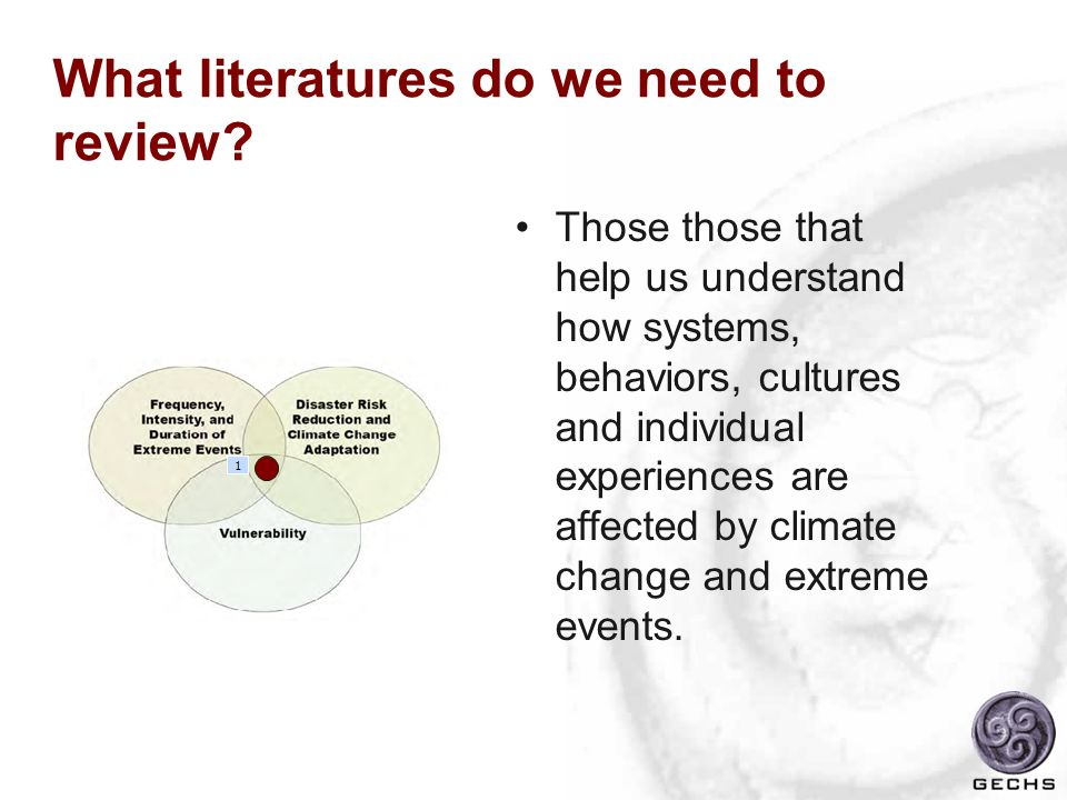 What literatures do we need to review
