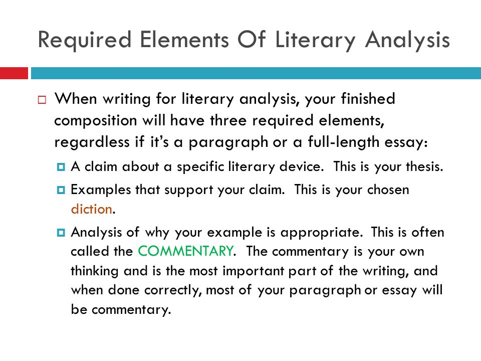 Writing a literary analysis powerpoint
