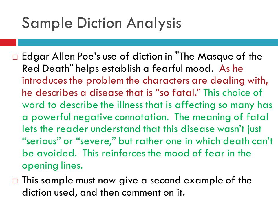 writing about diction ppt video online sample diction analysis