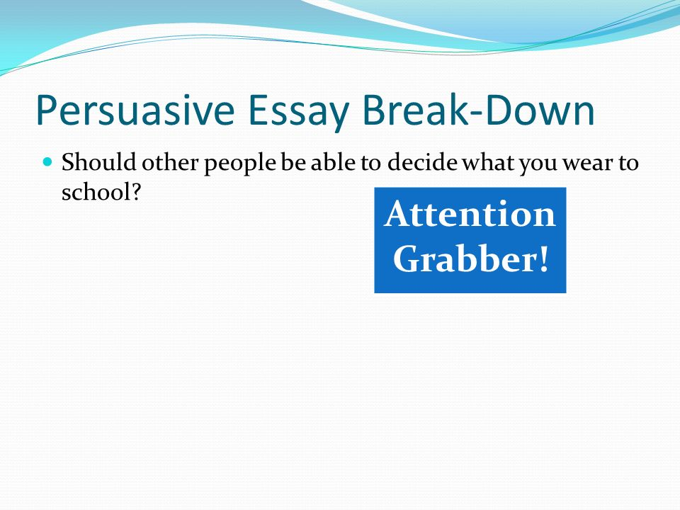Essay break down