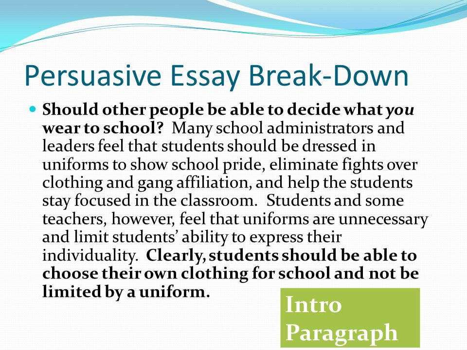 persuasive essay topics school uniforms
