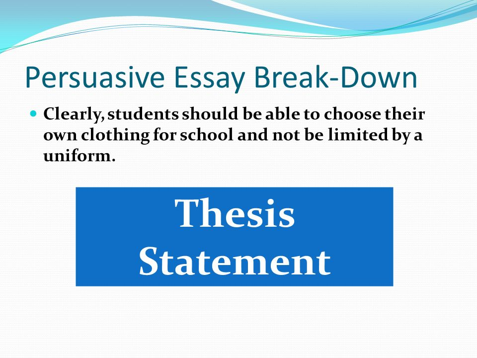 thesis statement for clothing 2017-10-21 pride and prejudice thesis statements (spring 2011) you want as many yeses as possible thesis statements are complete sentences that meet (at least) the following four criteria.
