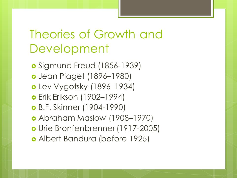the developmental theories of jean piaget sigmund freud and erik erikson