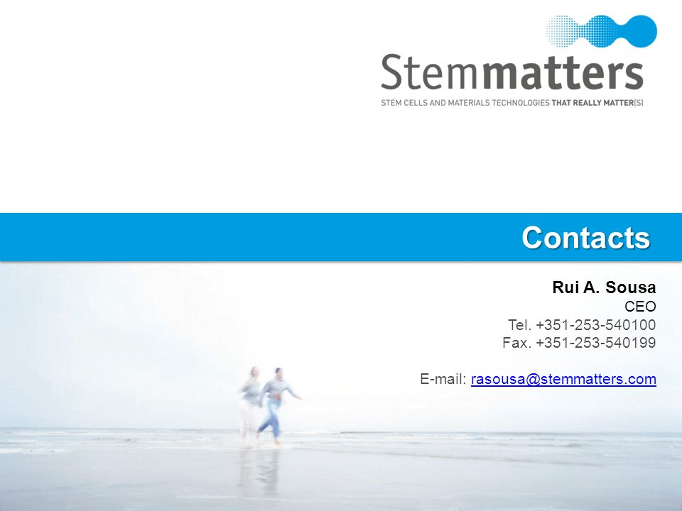 Contacts Rui A. Sousa CEO Tel. +351-253-540100 Fax. +351-253-540199