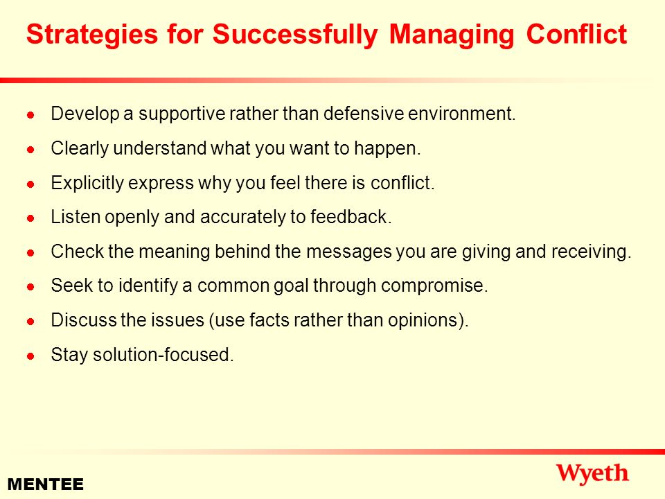 strategies for managing conflict successfully Conflict management--style  management strategies the key to managing conflict well is choosing  of the other four conflict management strategies rather.