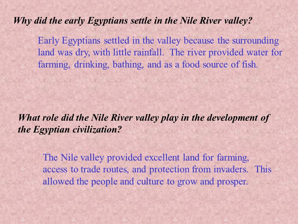 the role of the nile river in the shaping of the egyptian life Get an answer for 'how did the nile shape ancient egypt' and find without the nile, egyptian civilization the river nile played a critical role in ancient.