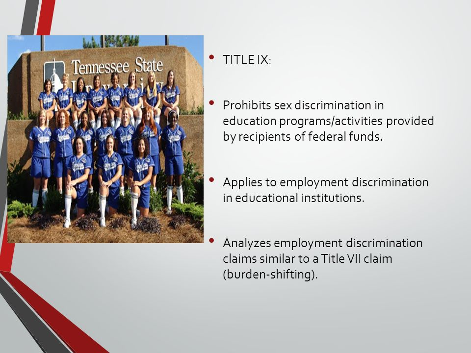 title ix that prohibits discrimination against girls and women in federally funded education