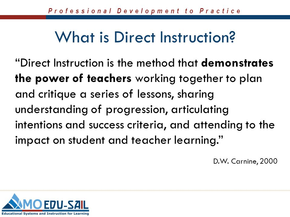 direct instruction lesson plan ideas