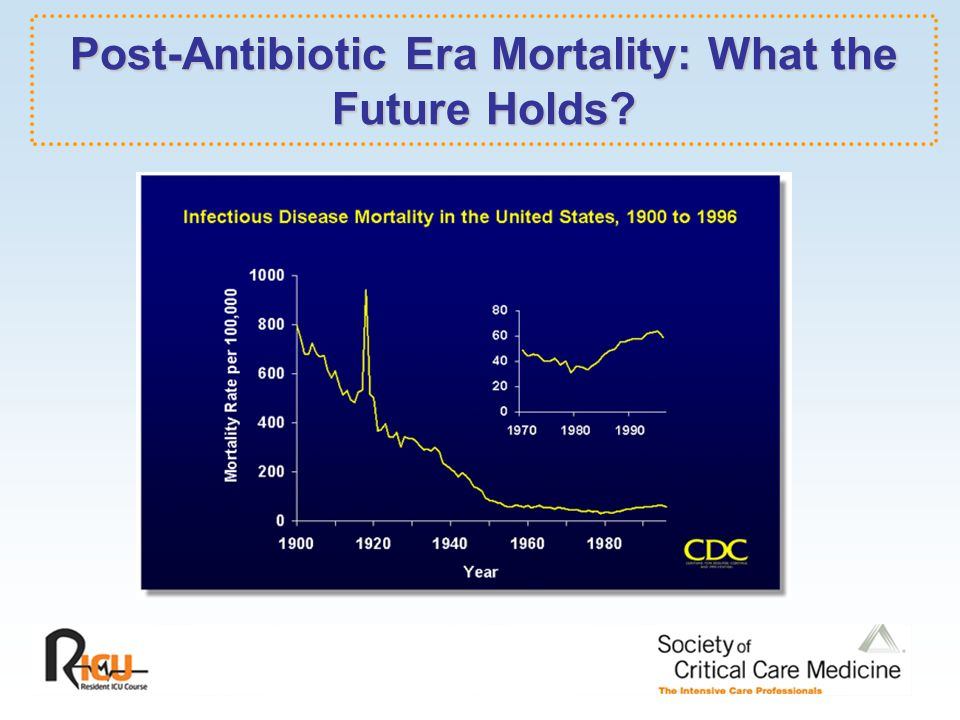 are we entering the post antibiotic era We are potentially entering a post-antibiotic era, as bacteria are now routinely encountered that are nearly-and sometimes totally-resistant to all known antibiotics someone developing an infection with a multi-drug resistant organism is more likely to die from the infection, and if they survive, more likely to have significant long-term .