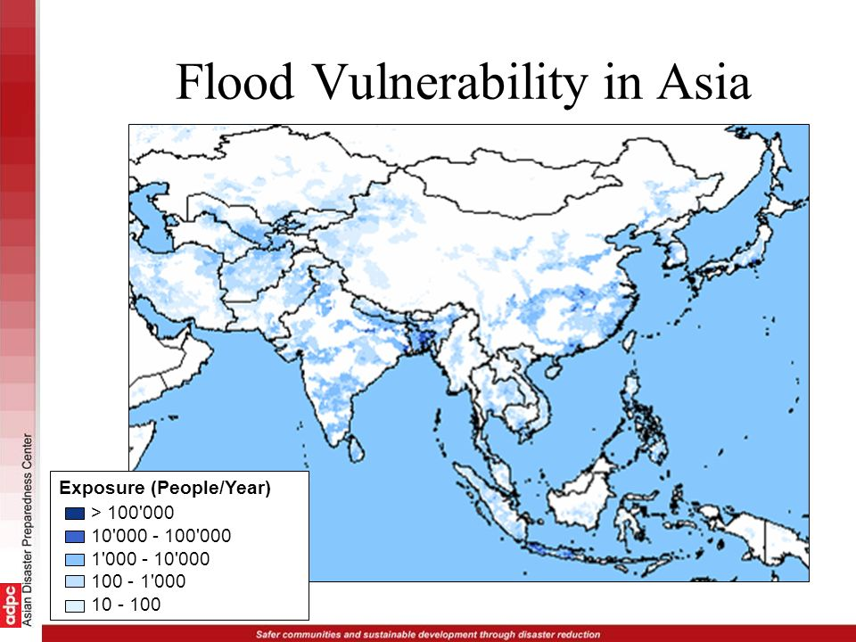 Flood Vulnerability in Asia