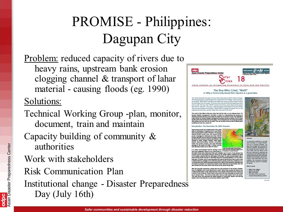 PROMISE - Philippines: Dagupan City