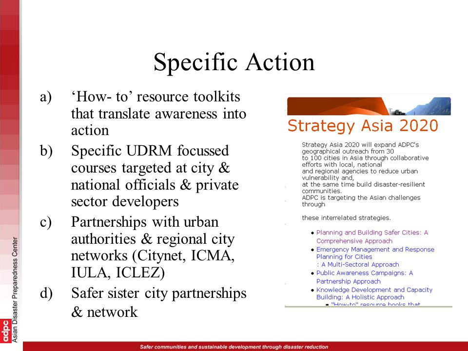 Specific Action 'How- to' resource toolkits that translate awareness into action.