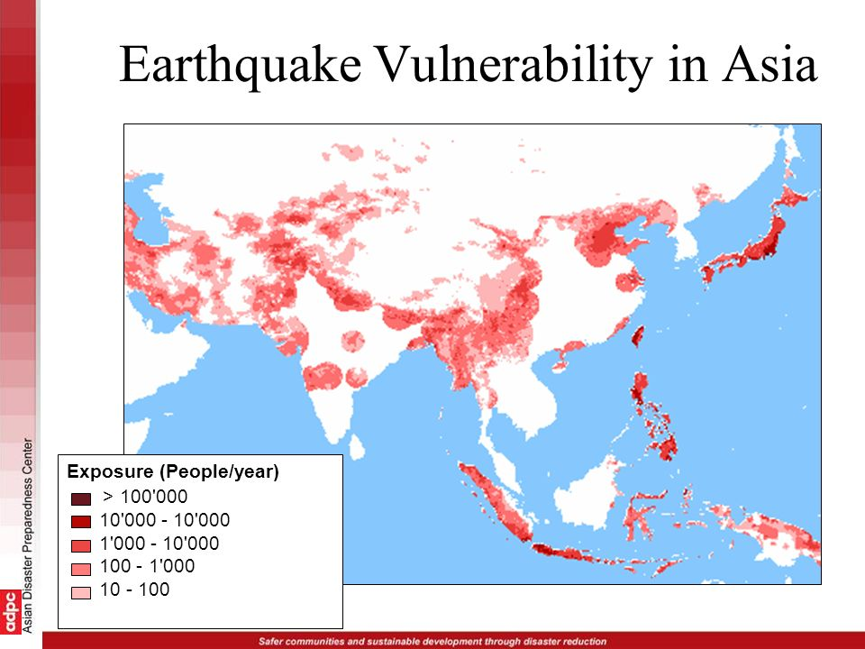 Earthquake Vulnerability in Asia