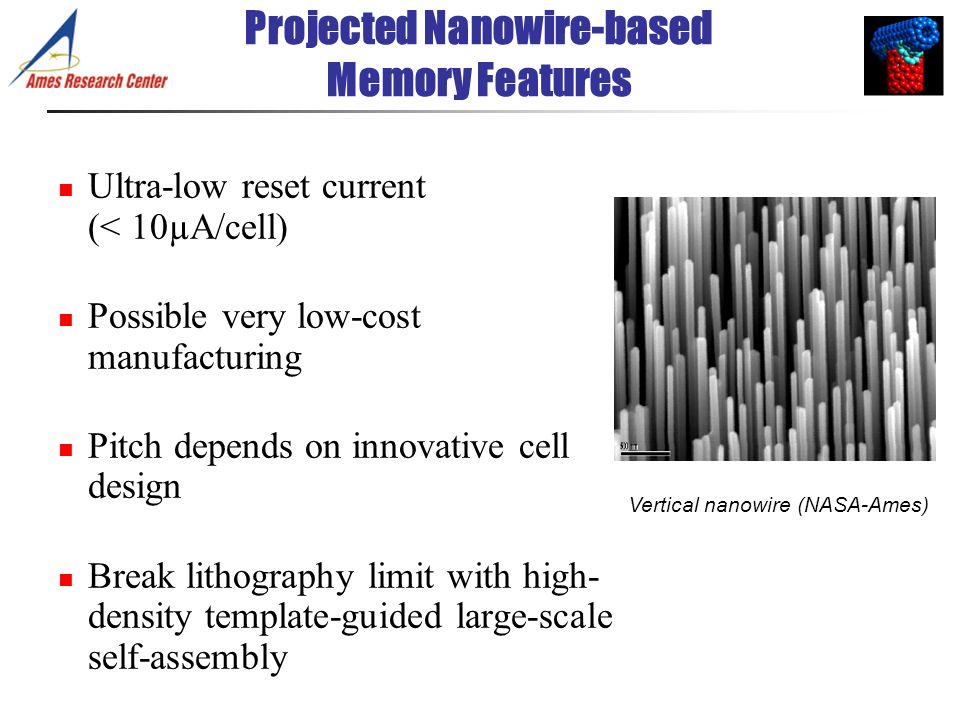 Projected Nanowire-based Memory Features