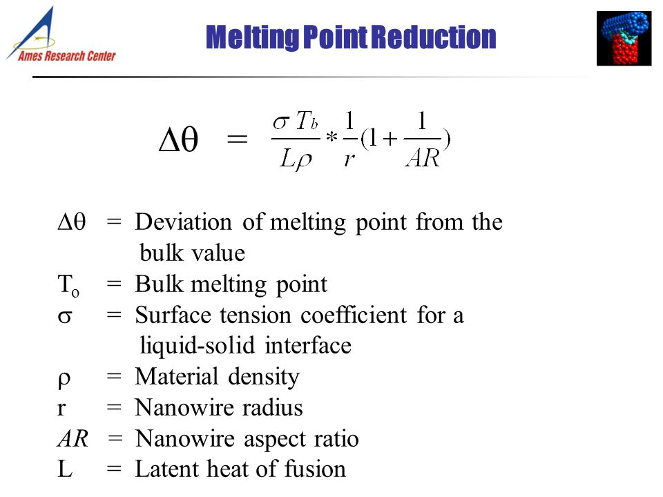 Melting Point Reduction
