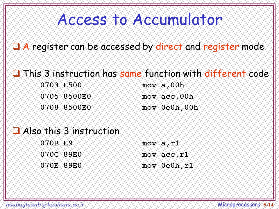 8051 instruction set table