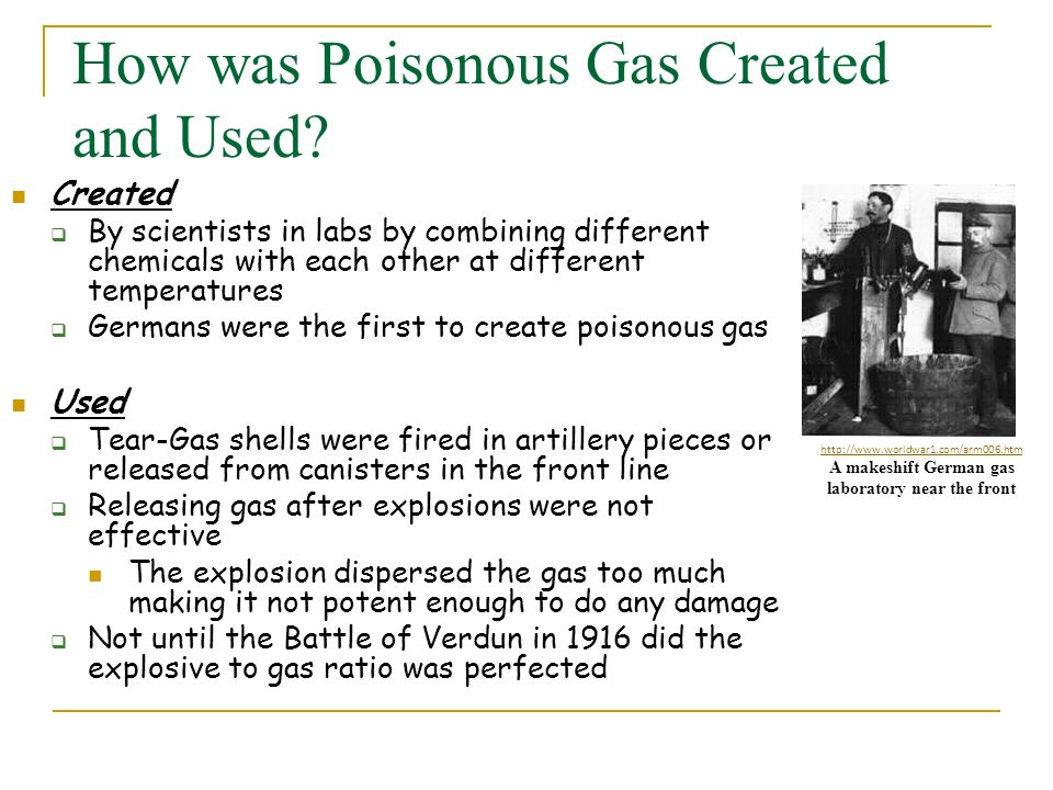 How was Poisonous Gas Created and Used