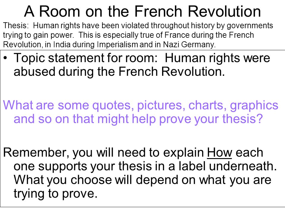 A Room on the French Revolution