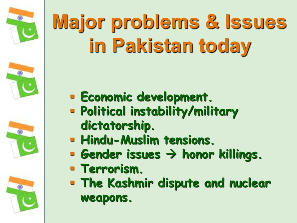 Major problems & Issues in Pakistan today