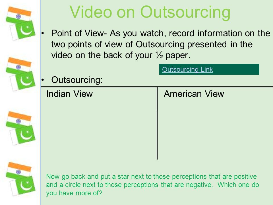 Video on Outsourcing