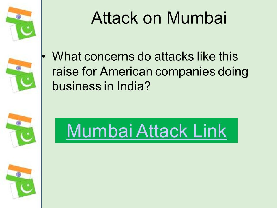 Mumbai Attack Link Attack on Mumbai