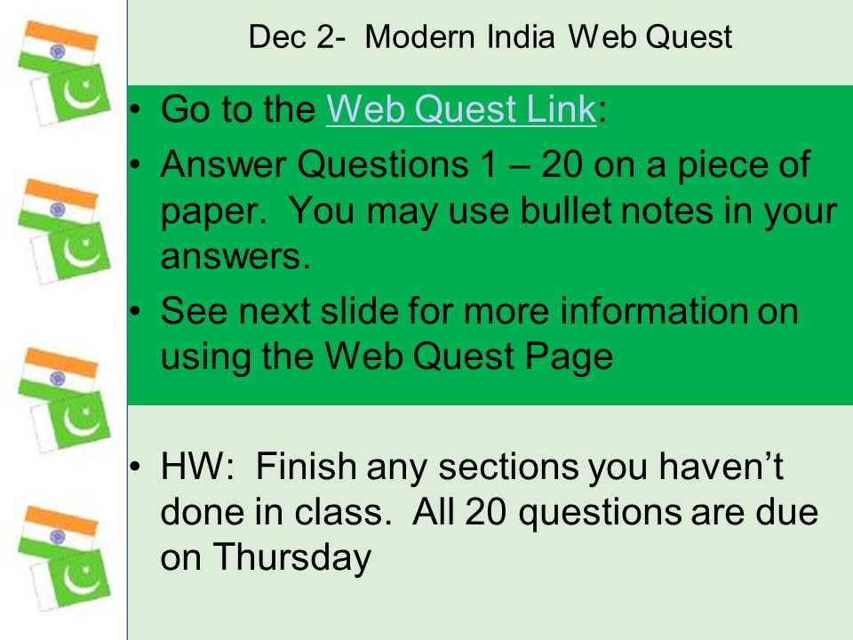 Dec 2- Modern India Web Quest