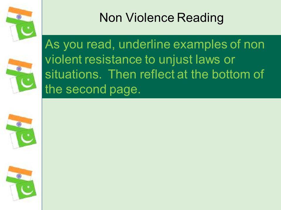 Non Violence Reading